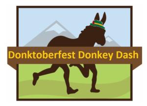 Donktoberfest Donkey Dash graphic w hat